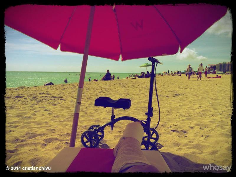 Chivu se relaxeaza pe plaja din Miami