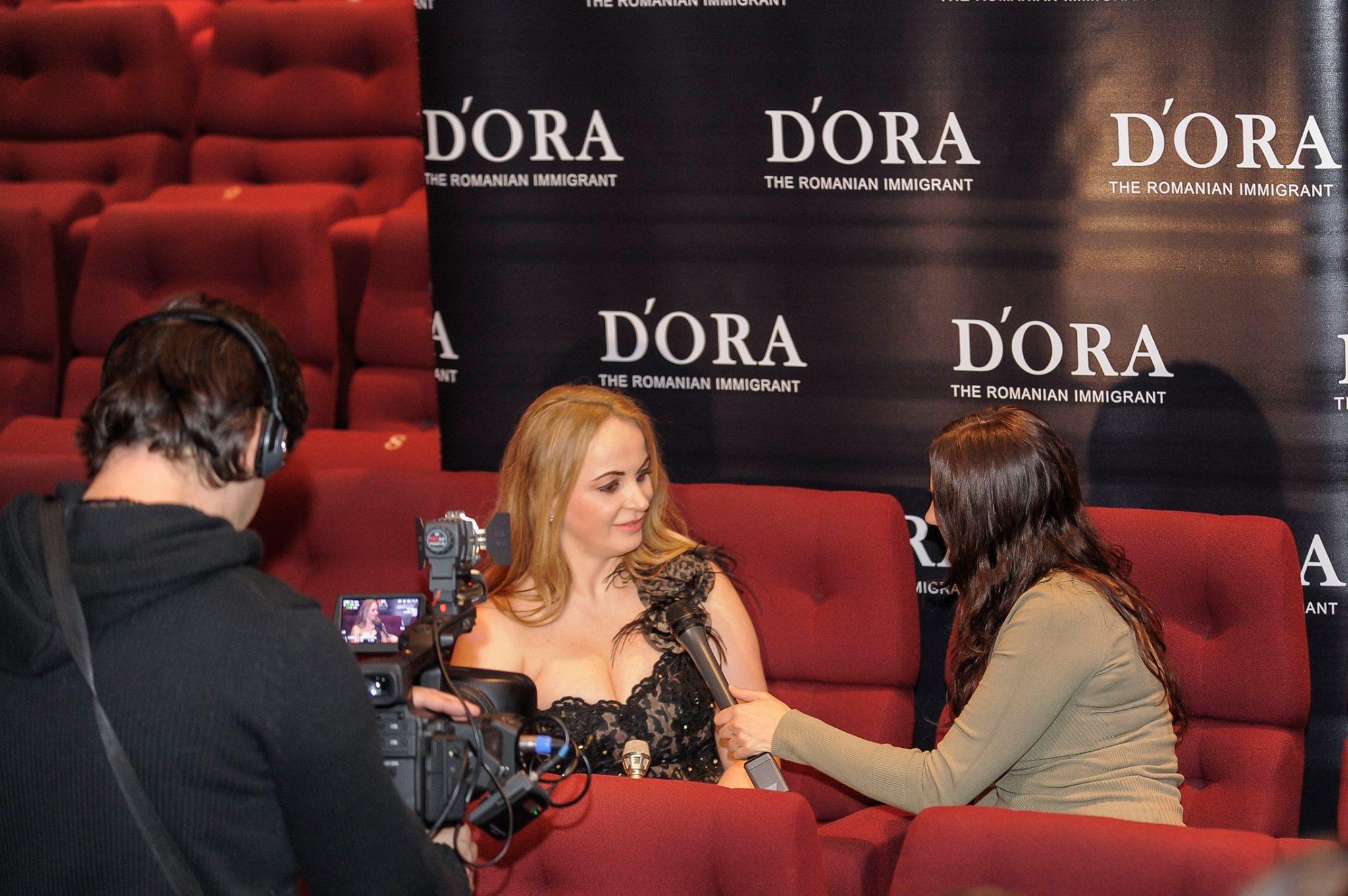 Actrita, la premiera filmului sau, DORA foto: Facebook