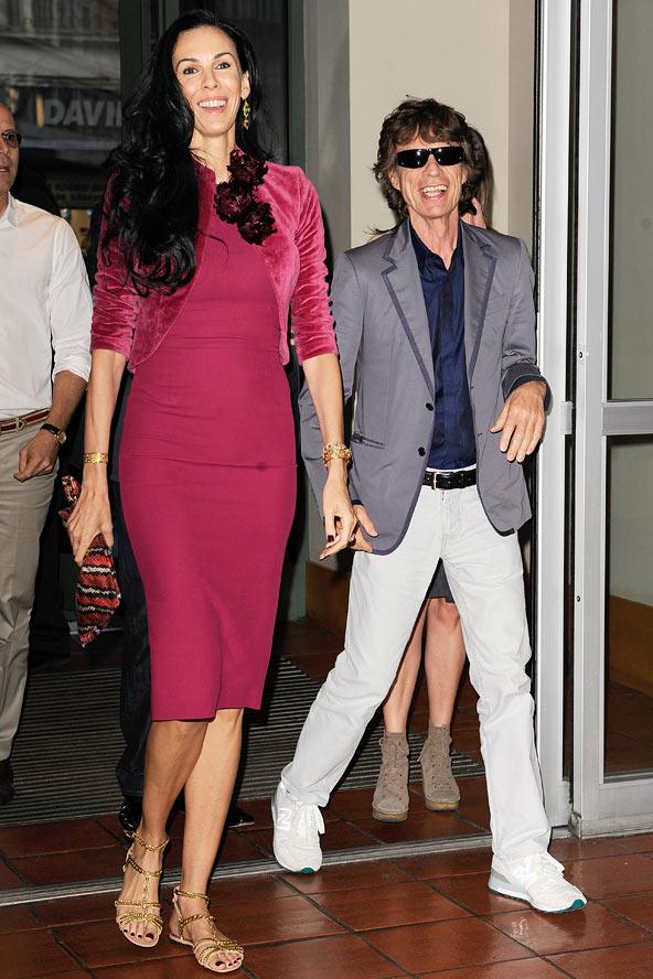 Mick Jagger si iubita