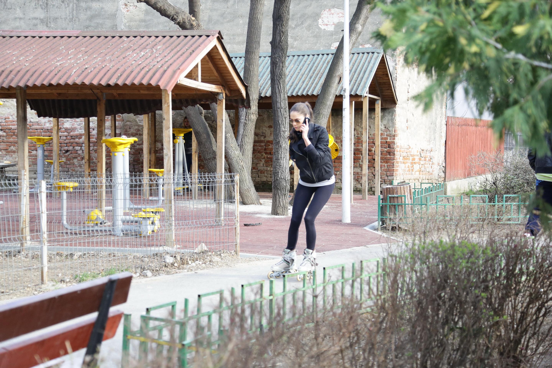 Irina Fodor a iesit cu rolele in parc