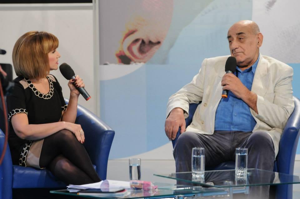 Marina Almasan l-a avut ca invitat pe Viorel Lis foto: arhiva personala