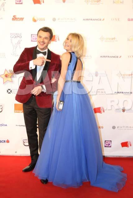 Diana Dumitrescu si Dan Cruceru la Premiile Gopo