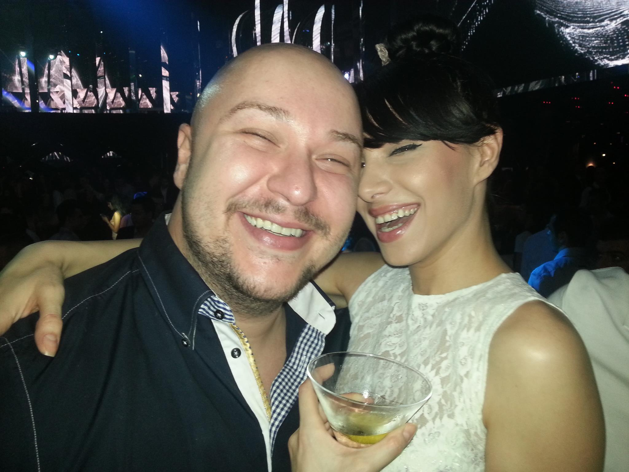 Sorana si sotul ei, pe vremea cand erau un cuplu fericit