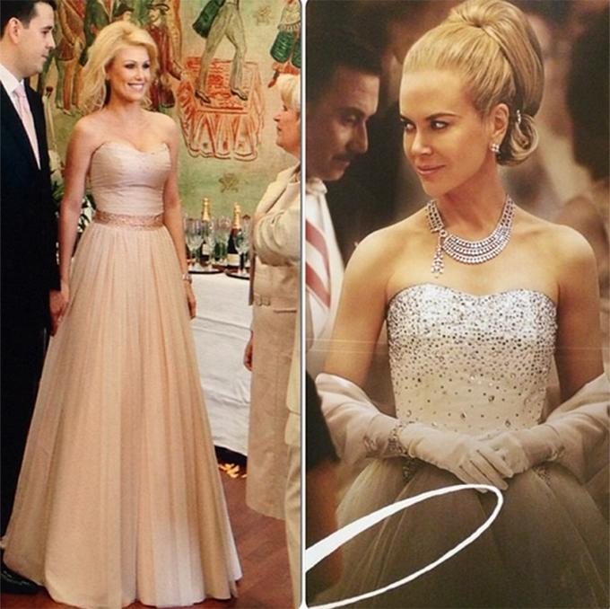 La cununia ei civila, vedeta a imbracat o rochie care seamana foarte mult cu cea a lui Nicole Kidman din filmul