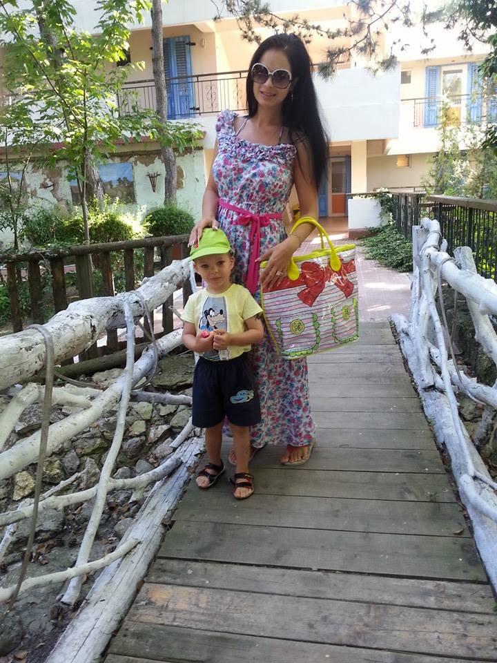Deea Maxer, alaturi de fiul ei