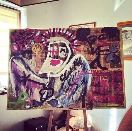Petrache Jr si-a amenajat acasa un mic atelier de pictura