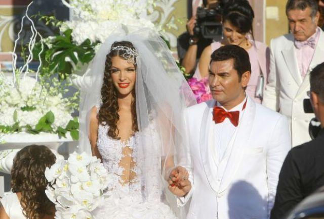 Cristi Borcea si frumoasa lui sotie, in ziua nuntii