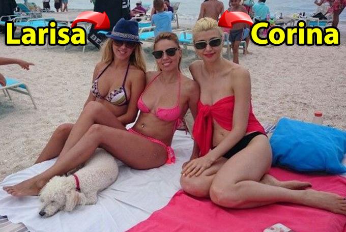 Larisa si Corina Dragulescu s-au bucurat impreuna de soare si plaja