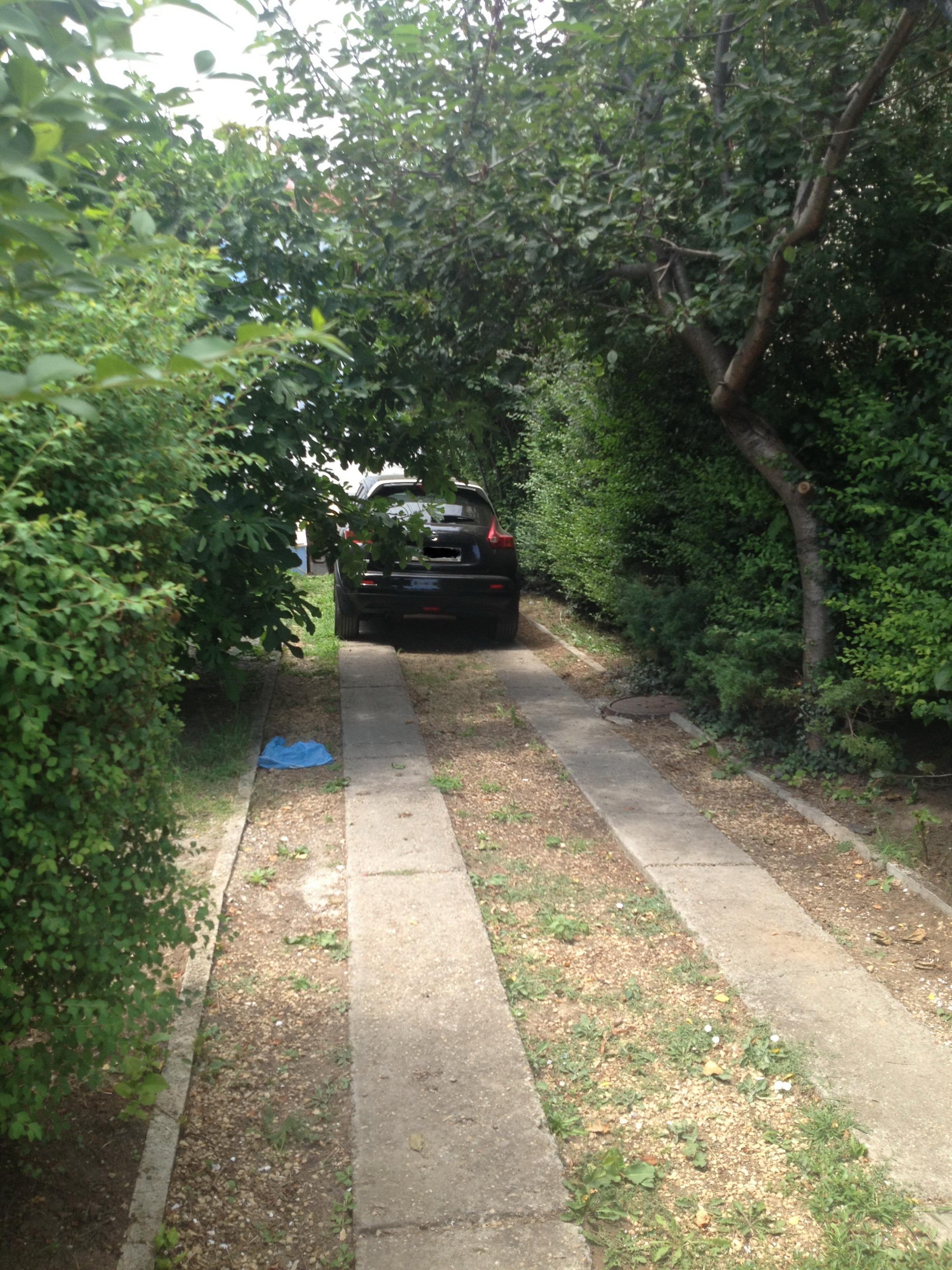 Masina Danei Nicolaescu este parcata in curtea casei