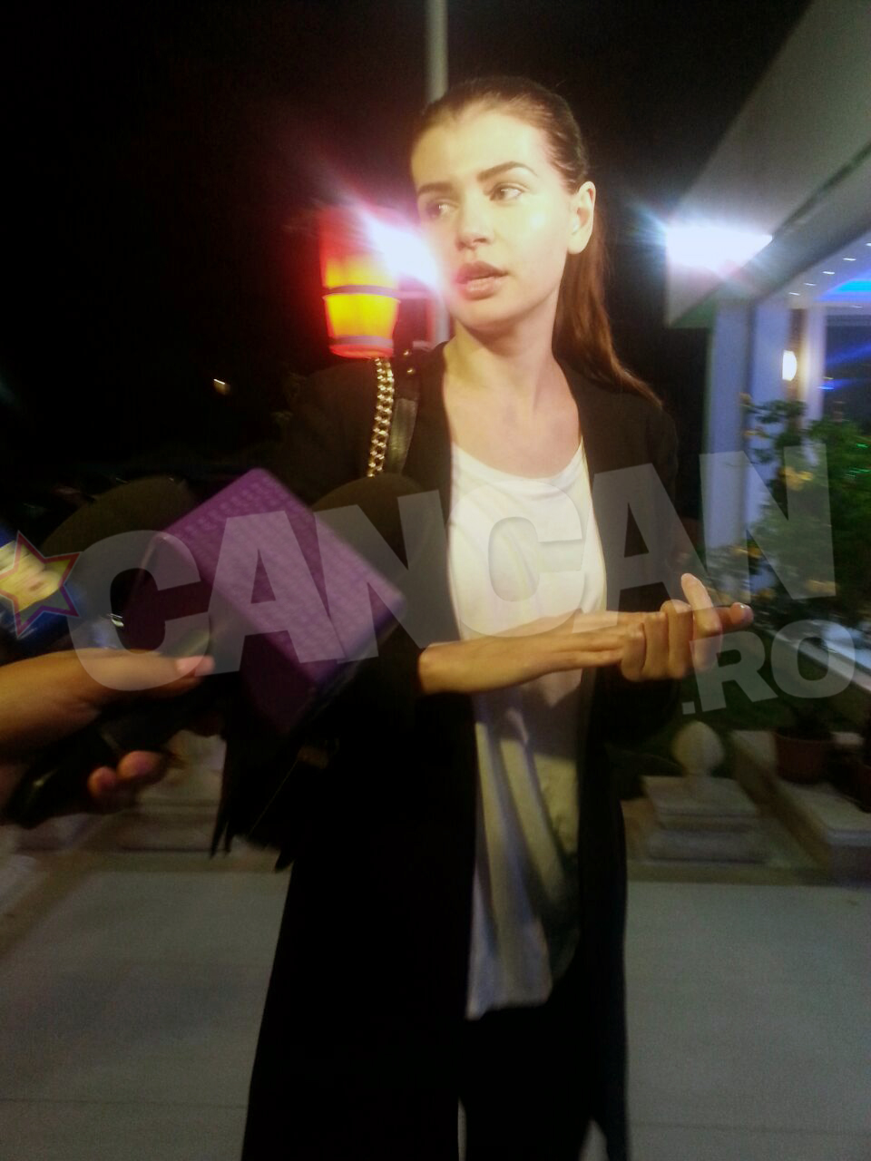 Monica a ajuns in aceasta seara in Mamaia, acolo unde se afla fiica ei, alaturi de Irinel Columbeanu