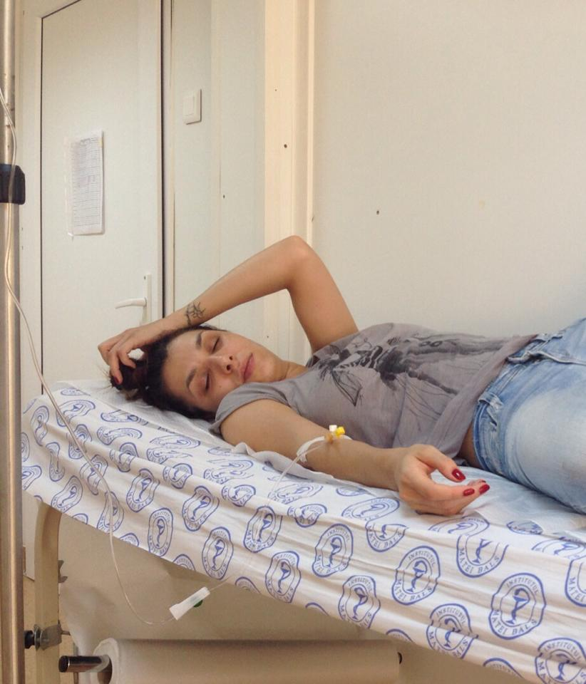 Sorana a ajuns de urgenta la spital