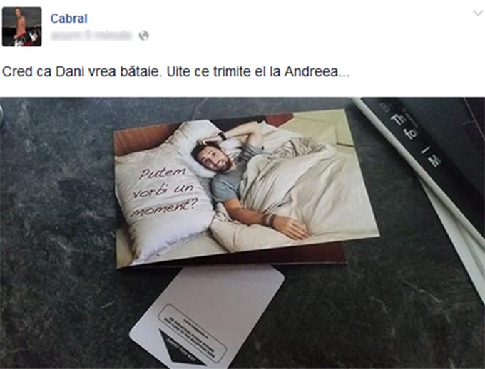 Acesta este mesajul pe care Andreea Ibacka l-a primit de la Dani Otil