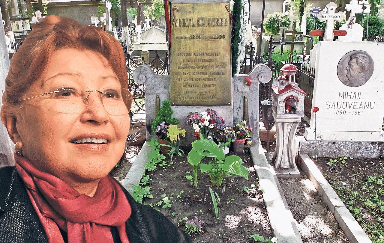 Rodica Popescu Bitanescu a jucat si printre morminte