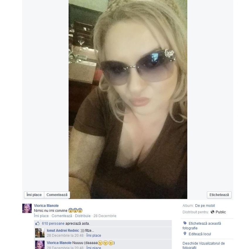 Viorica socializeaza mult cu prietenii virtuali pe pagina ei de Facebook