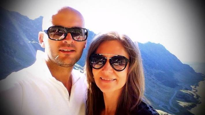 Romanita si avocatul Iulian Gogan s-au bucurat de cateva zile la munte