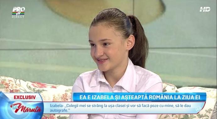Izabella a fost vazuta de toata Romania
