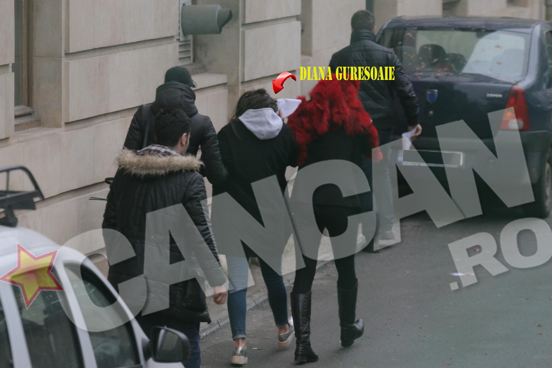 Diana Guresoaie a fost surprinsa in jurul orei 15.30, iesind din sediul Judecatoriei Sectorului 5