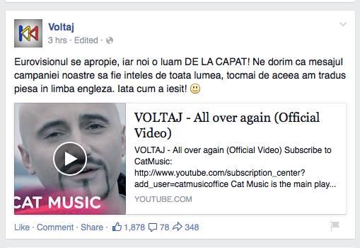 Calin Goia a anuntat, mandru, ca a tradus piesa in limba engleza