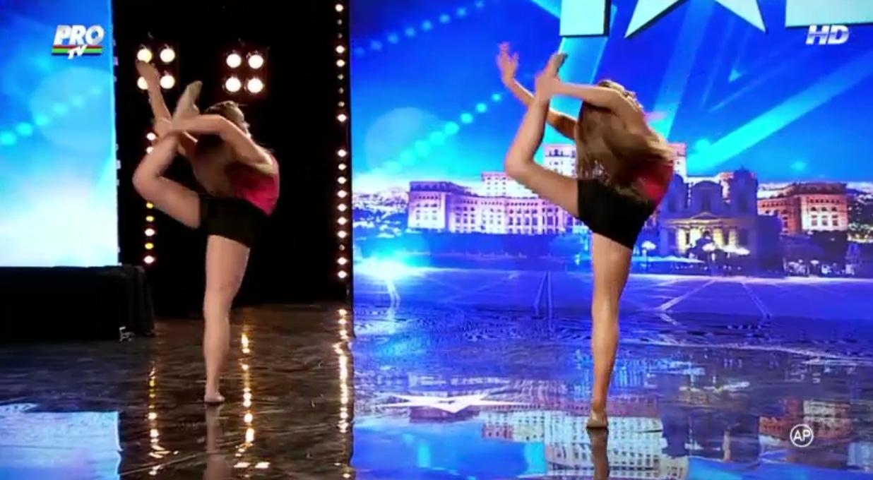 Crina si Stefania au fost campioane nationale la gimnastica ritmica