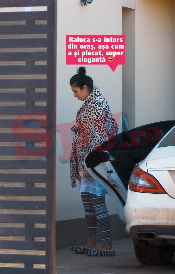 Raluca a iesit pe strada cu haine cu care sta in casa. Fotografia i-a starnit amuzamentul Oanei Zavoranu