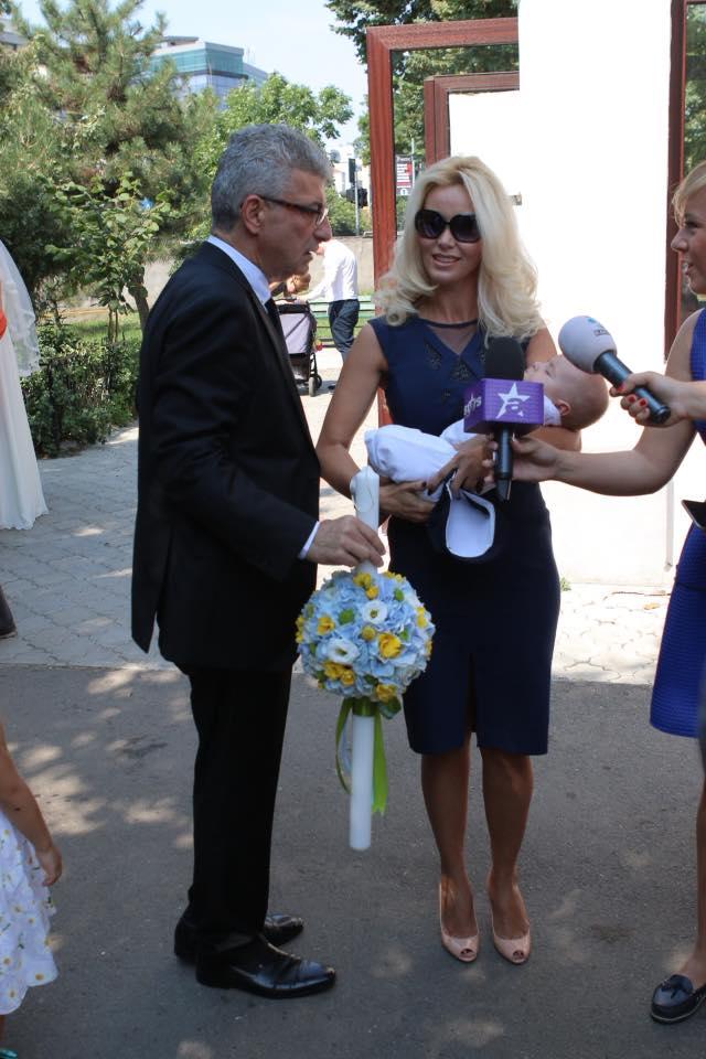 Prigoana si noua iubita au botezat un baietel