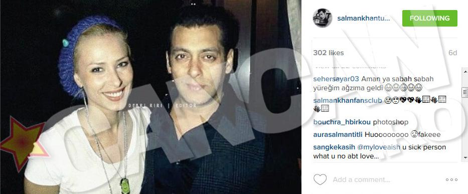 Salman Khan se mandreste cu iubita lui
