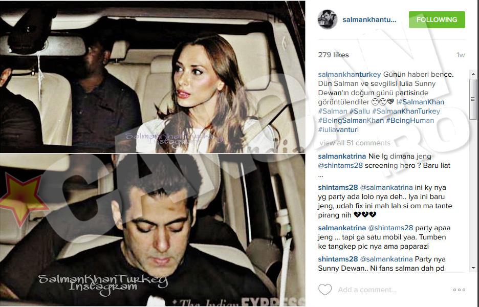 Iulia Vantur si Salman Khan au incercat sa tina relatai departe de ochii lumii, dar nu prea le-a iesit