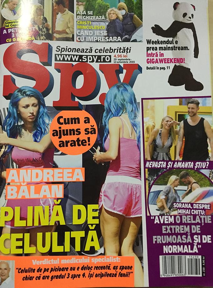 Numarul revistei in care apare Andreea Balan