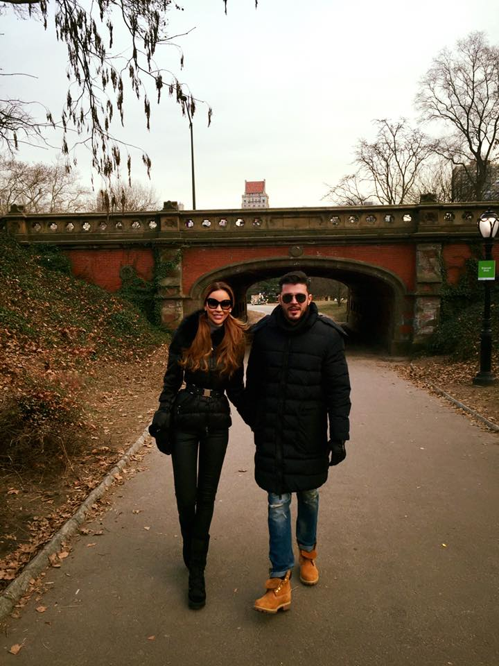 Bianca si Victor se bucura de vreme frumoasa in New York