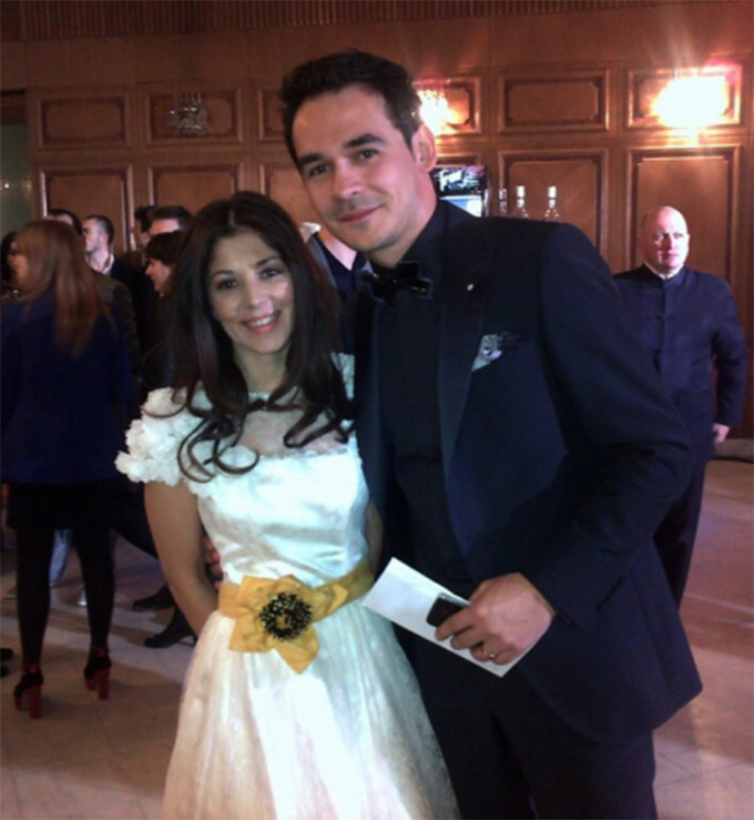Razvan Simion si sotia lui, Diana