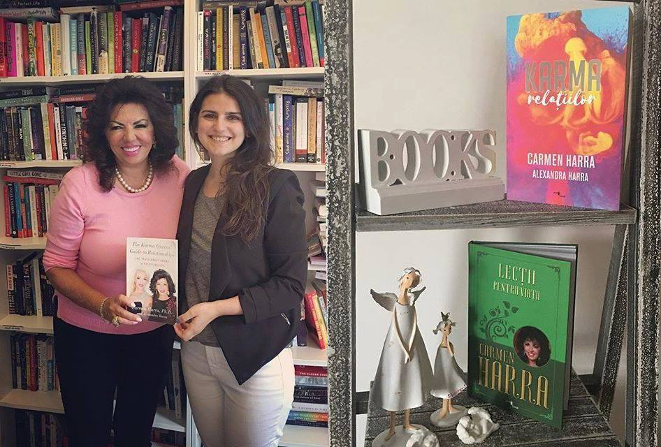 Alexandra şi Carmen Harra dau lecţii de viaţă în cărţile pe care le scriu