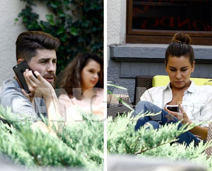 Răduţ şi iubita lui n-au slăbit deloc telefoanele la terasă