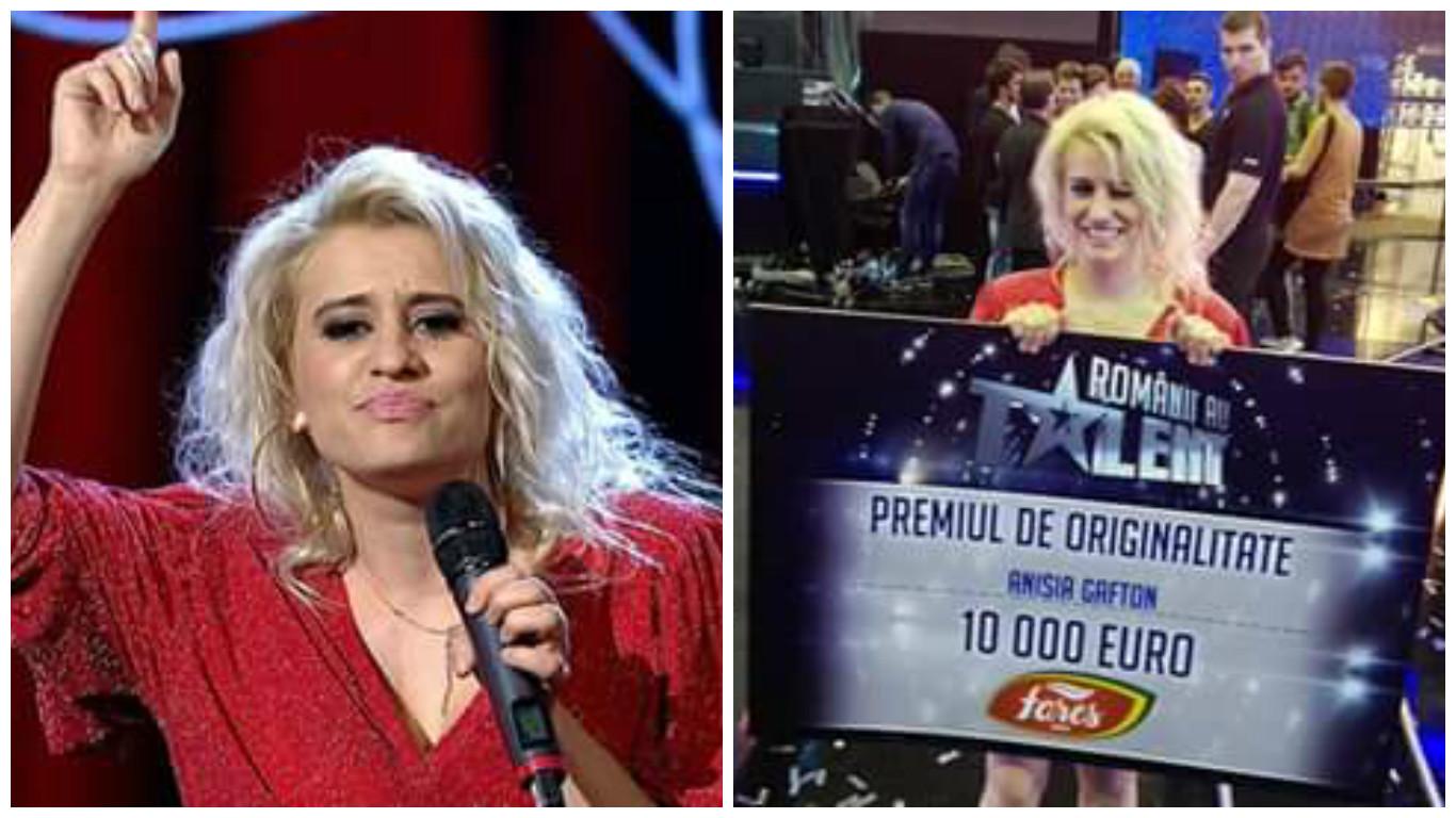 Anisia Gafton a câştigat premiul pentru originalitate la ''Românii au talent'', în valoare de 10.000 euro.