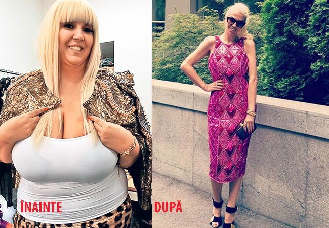 Raluca Bădulescu are o talie de viespe, după ce a slăbit 70 de kilograme.