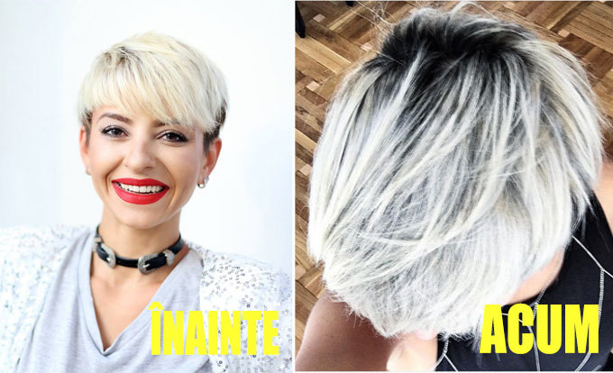 Giulia s-a făcut blondă...argintie!