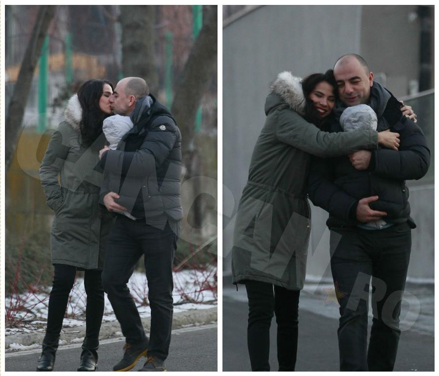 Irina Mohora şi soţul ei sunt foarte fericiţi alături de fiul lor.