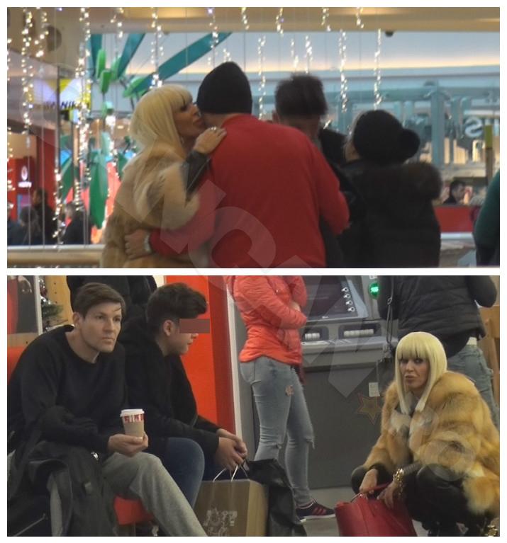 Raluca Bădulescu a ieşit la mall cu fostul soţ, Vali Pungă, şi fiul lor.