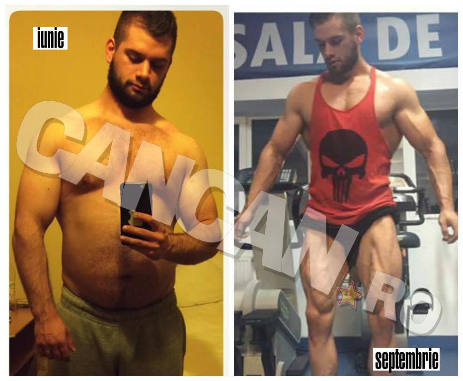Florin Damsa a reuşit în doar trei luni să se facă un pachet de muşchi.