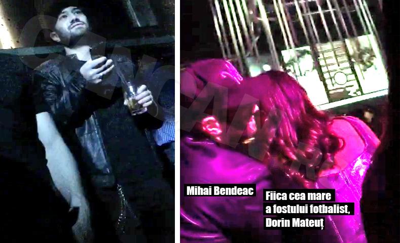 Mihai Bendeac şi fiica fostului fotbalist, Dorin Mateuţ, au flirtat o noapte întreagă în club.