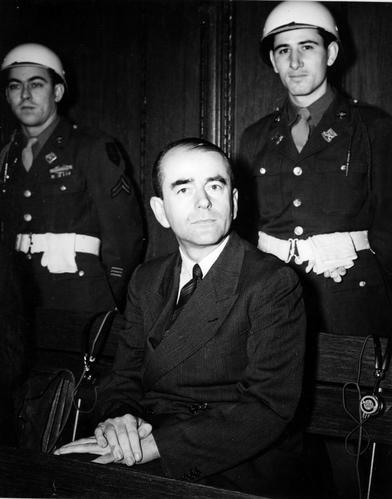 Ministrul de razboi al lui Hitler in timpul procesului de la Nuremberg(foto:wikipedia)