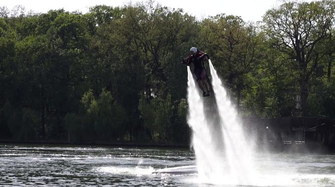 JetLev Flyer-ul ultima fita pe Lacul Snagov