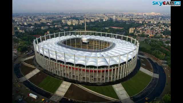 Arena Nationala vazuta de la aproapoe 150 de metri inaltime