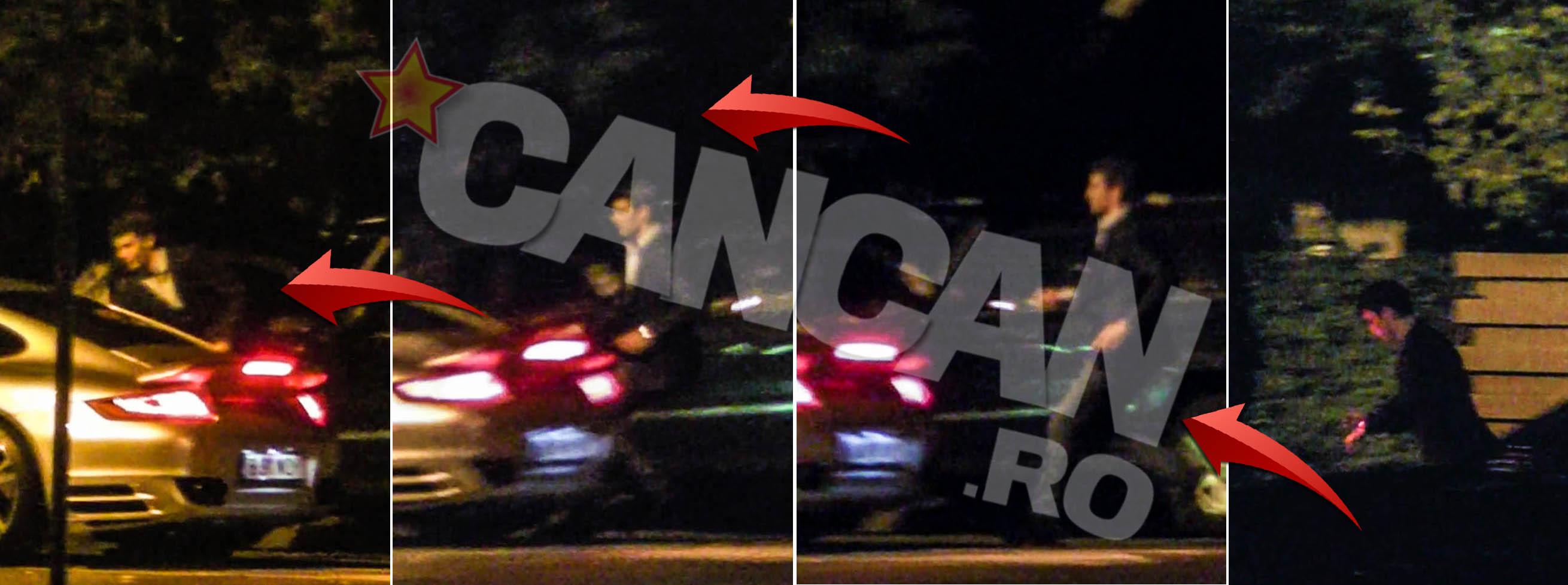 Mario Iorgulescu fuge spre o alta masina