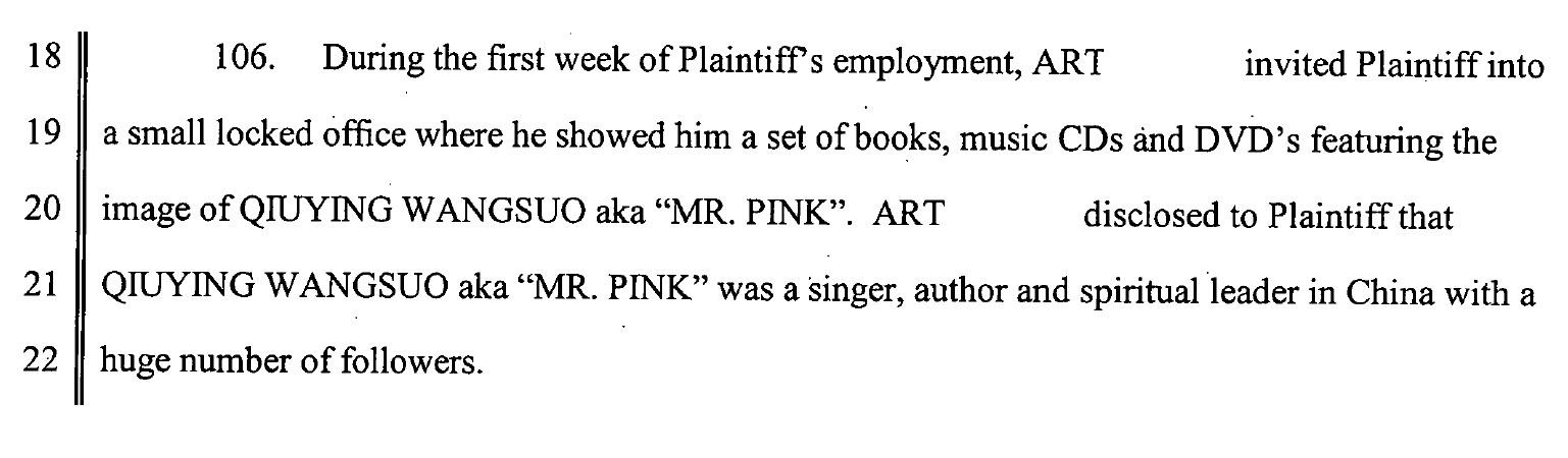 Fascimil din documentul depus de fostul director de la firma Mr Pink in instanta, in procesul cu firma de bauturi