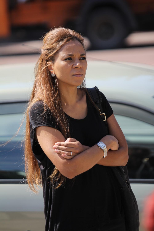 Actrita Nadine a venit si ea la inmormantarea ingerasului ucis de maidanezi
