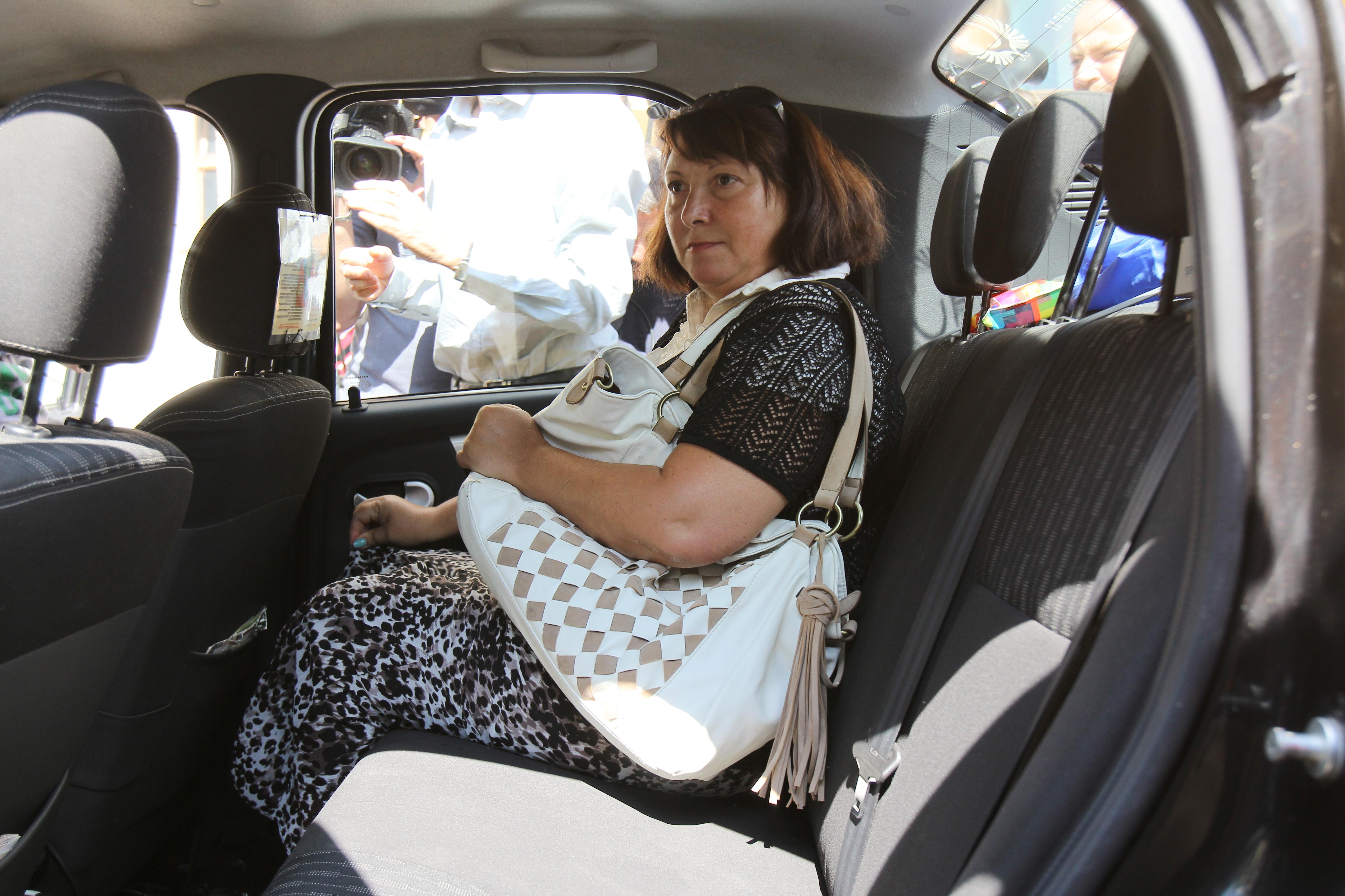 Carmen Secareanu a plecat spre casa cu un taxi
