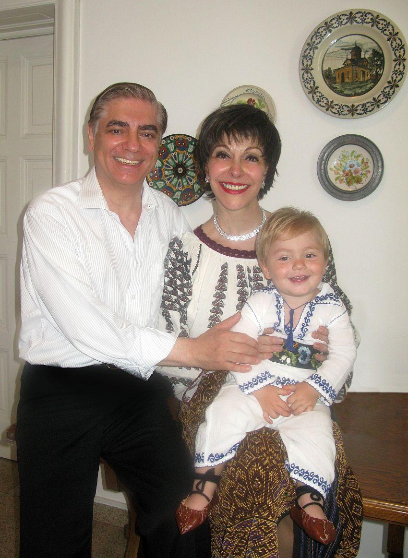 Printesa Lia si sotul ei impreuna cu fiul lor