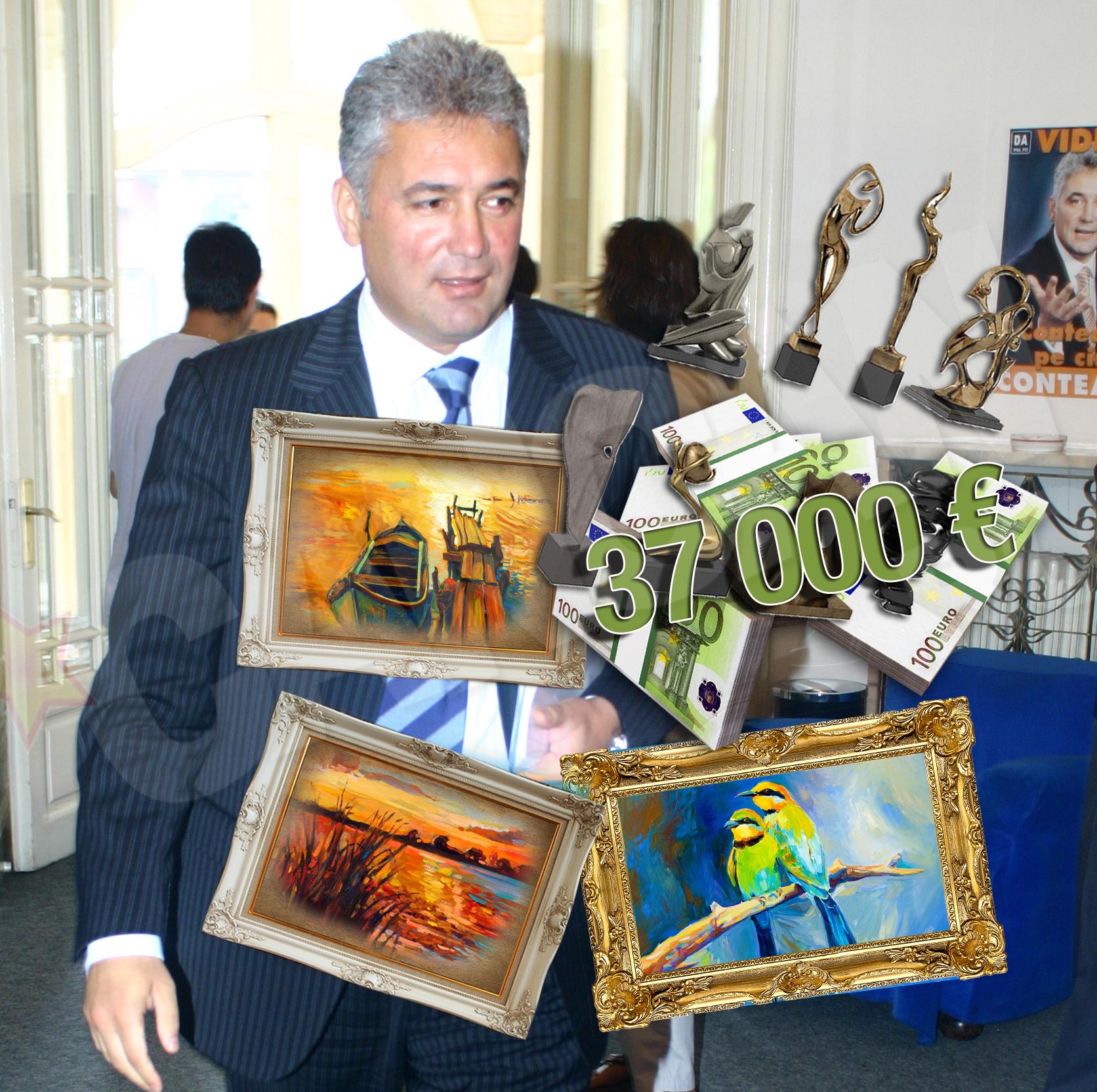 Videanu se desparte si de colectia de tablouri