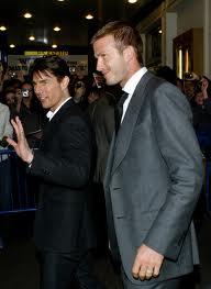 David Beckham si Tom Cruise sunt buni prieteni