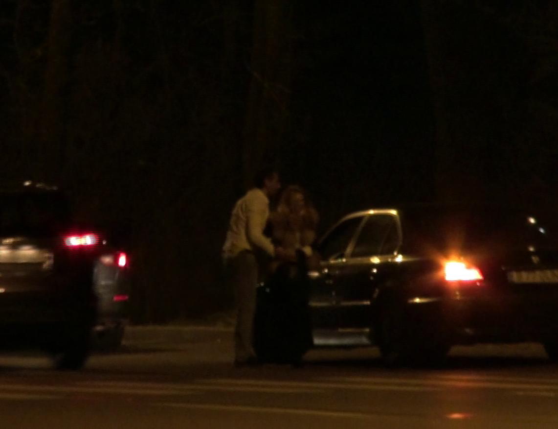 Dupa o disputa cu iubitul misterios, Crina Matei a coboart din masina in padurea Baneasa.